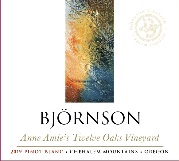 Bjornson Anne Amie's Twelve Oaks Vineyard 2019 Pinot blanc Chehalem Mountains Oregon